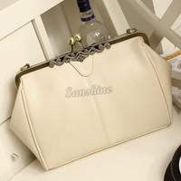 Hot Sale! 2014 New Fashion Women Retro Vintage Ladies Shoulder Day Purse Handbag Tote Bag Messenger Bag B19 SV001969