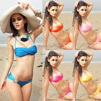 Hot!!!Women Sexy Swimwear Beach Swimsuits Padded Bathing Beachwear Bandeau Bikini Set b012 16406