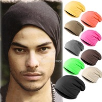 Wholesale New Fashion Winter Unisex Solid Color Elastic Hip Hop Cap Beanie Hat Slouch 9 Colors One Size b15 18280