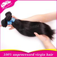 "Unprocessed 6A Peruvian Virgin Hair Straight 4Pcs Lot 8"" to 40""Human Hair Free Shipping 4 bundles Peruvian Straight Virgin Hair"