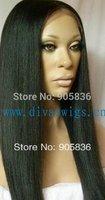 African american Black  human hair light yaki  full lace wig