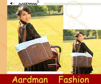 Free Shipping wholesale Blue,Orange,Microfiber Waterproof Cheap Diaper Bag,nappy bag,baby carry bag