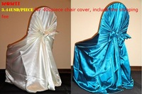 Free Shipping 100pcs/lot satin pillowcase chair cover/Universal Chair Cover/self-tie chair cover for wedding Party(many color)