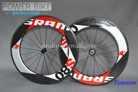 Free shipping Fiber Clincher racing Road Bike carbon rims 700C 90mm SRAM Carbon wheels