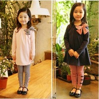 children clothing set girl 2 pieces set long sleeve shirt and pants,1434