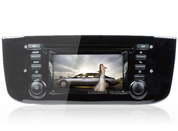 3G WiFi Car DVD Stereo Sat Navi Headunit For FIAT PUNTO With Audio Video GPS Radio Bluetooth Ipod TV, FREE Shipping+Map