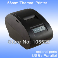 point of sale thermal receipt printer XP58IIN usb parallel for option supports English characters print only