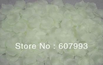 Ivory silk petals ,Artificial Rose Petals,Faux Rose Petals for Wedding Decoration ,2000pcs/lot Free Shipping