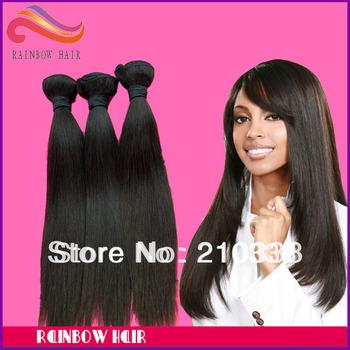 "wholesale 12""~30"" AAAAA virgin brazilian human hair extension natural straight 1kg/lot 100g/pcs free shipping"