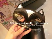 Lot 50 Black Cat Kitty Mask Eye for Venetian Masquerade Carnival  Women Lady Gaga Fashion Female Party  Halloween  Free Shipping