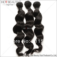 Free Shipping Unprocessed Malaysian Virgin Hair Loose Wavy 3 Pcs Lot Hair,Dyeable Beachable Hair Weaving