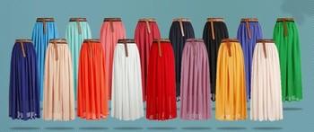 16 Цветs arrived Шифон Длинный skirt bohemian vintage pleated 100cm&90cm lenght ...