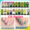 C6 Series - 20sheets !! FREE SHIPPING + Water decals Nail Art Stickers Full Cover Nail tips sticker for wholesale & Retails