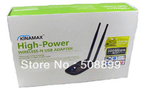 New Kinamax 300Mbps Double antennas High Power 802.11n Wireless adapter Free Shipping+Dropshipping