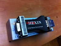 HEXIN RS232 to RS485 serial port  Data Interface Adapter Converter 1.2KM 3 Bit   Wholesale