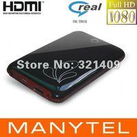 1080P Full HD Media Player USB 2.5 SATA RM RMVB MKV H.264 VOB DIVX With HDMI AV black Color free shipping
