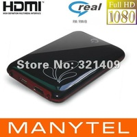 1080P Full HD Media Player USB 2.5 SATA RM RMVB MKV H.264 VOB DIVX With HDMI AV black Color free shipping