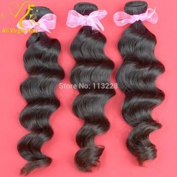 Hot Sale 6A Unprocessed Brazilian Virgin Hair Bundles 3 pcs/Lot Brazilian Virgin Hair Loose Wave Unprocessed Human Hair Weaves