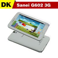 Original 6.5 '' Sanei G602 3G tablet phone MTK8382 Quad core Android 4.2 8GB ROM Dual cameras GPS WCDMA Back 5.0 MP Bluetooth