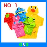Hotsale Funny Rain Coat Kids children Raincoat Rainwear/Rainsuit,Kids Waterproof Animal Raincoat,