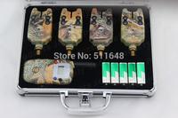 FREE SHIPPING! Manufacturer Camo Fishing bite alarm wireless set JY-53 (1receiver+4alarms)