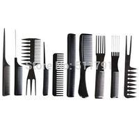 China Post Air Mail Free shipping Professional Salon Hair Comb Set(10pcs=1set),good for barber.