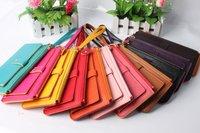 Carteira Feminina Carteras Ladies' Pu Handbag Wallet,fashion Leather Clutch Bag,women Card Bags Purse,10 Colors free Shipping