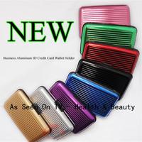 Free Shipping 200pcs 8 colors Aluminum Wallet As Seen On TV Aluma wallet Credit Card Holder