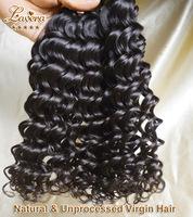 Brazilian curly virgin hair Deep wave 3pcs lot  Human Hair Weave 6A Unprocessed Virgin Brazilian Hair deep curly Free Shipping