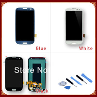 100% Guarantee LCD with Touch Screen Digitizer Assembly For Samsung For Galaxy S3 SIII i9300 Free Shipping
