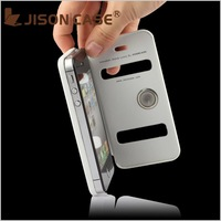 Hard cover for silicone case iphone 4  Suction cups phone case for iPhone 4S come with retail package free shipping 10 colors