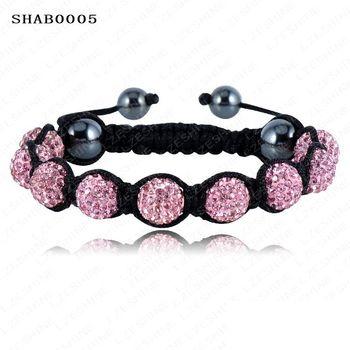 Sales Promotion 10mm Crystal AB Clay Disco Ball Shamballa Bracelets & Bangles Mix Colours Options SHABSmix1