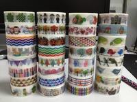 1459 patterns diy masking tape Stickers Cute decorative Japanese grid ,dot,choose bogota design decor  tape