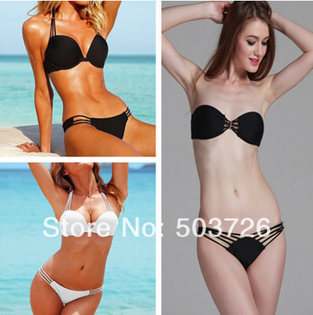High Fashion Bandeau Swimwear Women Bikini Set Sexy Swimsuit Hot Sale Padded Bathing Suit Lady Beachwear