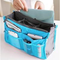 5Pcs/Lot 8 Colors Lady's Organizer Bag/Handbag Organizer/Travel Bag Organizer Insert With Pockets/Storage Bags b11