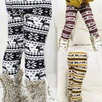 [retail] girls thick pants,baby winter warm elastic waist legging deer bootcut ,1820