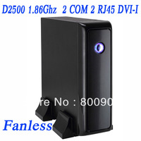 D2500 1.86Ghz, 2G RAM,80G HDD/16G SSD, Diskless thin client mini pc PXE network boot 2 RJ45 2 COM IN-D25L