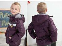 Freeshipping  Autumn winter bule purple Children boy Kids baby hoody hooded sports coat jacket outwear clothing top PCDS13P21