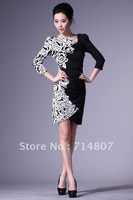 Hot 1352 Heavy build irregular collar dress new manufacturers supply Spot
