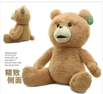 "Original ! New 23""  High quality 60cm / 50cm Teddy Bear Ted The Movie X R Plush Dolls ted bear Man's Stuffed Plush toys ted bear"