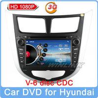 Free shipping 2014 car dvd for HYUNDAI VERNA Solaris Accent I25 GPS Radio Stereo TV Bluetooth USB/SD RDS Russian Menu Free Map