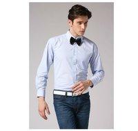 Freeshipping new Autumn winter blue striped man men's slim fit Business casual gentleman style cotton shirt top FZ-M002-50ST4