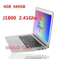 14inch ultrabook laptop notebook computer J1800 2.41Ghz 4GB ddr3 640GB HDD Intel dual core WIFI camera