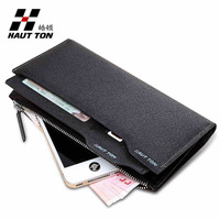 New arrival Brand men wallet long genuine leather popular fashion male purse  wholesale