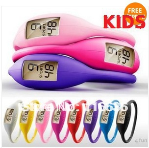 5pcs Ion Watches Silicone Children KIDS watch colors Silicon Jelly Rubber Ladies Fashion 1ATM Wholesale LOT girls boys