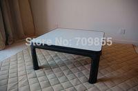 Kotatsu Furniture Table75cm Reversible Top White/black Folding Legs Japanese Low Small Modern Heated Foot Warmer Table Kotatsu