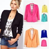 2013 Z new hot stylish and comfortable women's cotton jacket shawl lace cardigan Candy color lined with striped Z suit W4100
