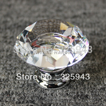 1pc 30mm Zinc Alloy Clear Glass Crystal Glass Cabinet Knobs And Handles Dresser Knob Kids Pulls