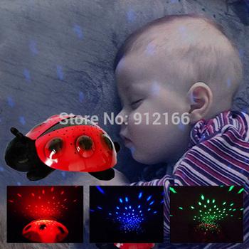 Lovely Ladybug Night light,Constellation Lamp projector night light similar to turtle light,nice gift for kids Freeshipping