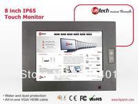 8 inch high brightness ip65 waterproof touch screen monitor aluminium case